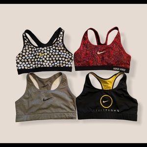 bundle of 4 Nike Sports Bras Medium